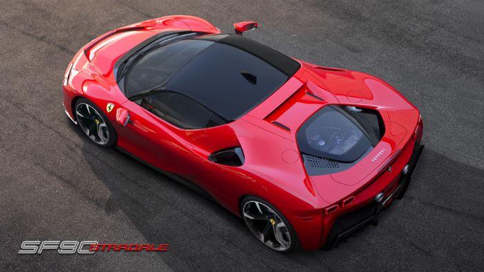 Ferrari SF 90 Stradale - top view