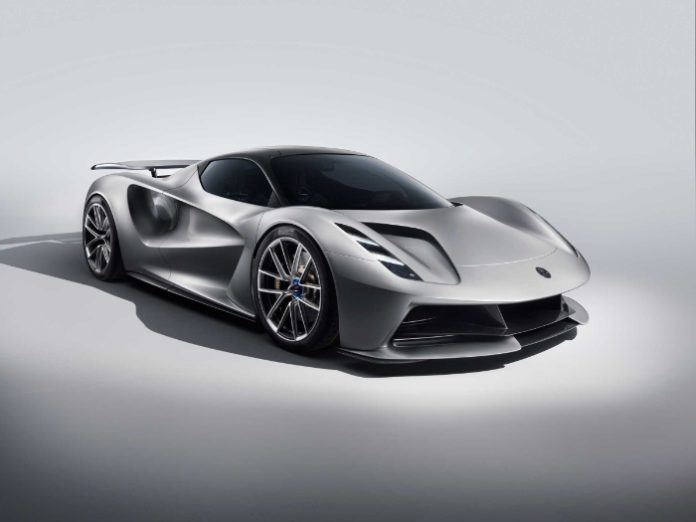 Lotus Evija fully-electric hypercar - front
