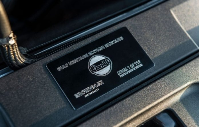 2019 Ford Mustang Gulf Heritage Edition - ID plaque